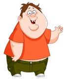 肥胖孩子 免版税库存照片