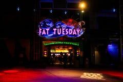 肥胖星期二晚上俱乐部,奥兰多,佛罗里达 图库摄影