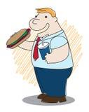 肥胖热狗人 向量例证
