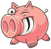 肥胖猪 免版税库存照片