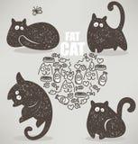 肥胖猫 皇族释放例证