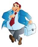 肥胖生意人,例证 库存照片