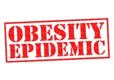 肥胖病流行病 向量例证