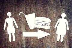 肥胖病的概念 库存照片