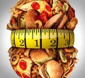 肥胖病腰围饮食 图库摄影