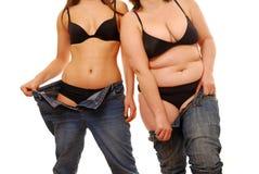 肥胖稀薄 免版税库存照片
