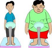 肥胖稀薄 免版税库存图片