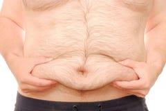肥胖腹部 图库摄影