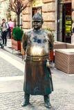 肥胖警察雕象 库存照片