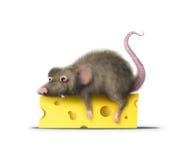 肥胖鼠标 库存例证