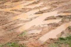 肮脏和泥泞的路纹理 免版税图库摄影