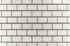 肮脏和粒状白色灰色瓦片城市墙壁 免版税库存照片