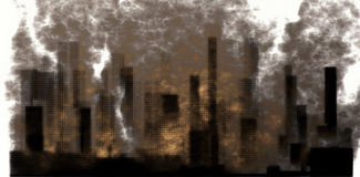 肮脏的城市 库存图片