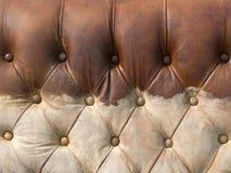 肮脏的布朗皮革纹理  免版税图库摄影