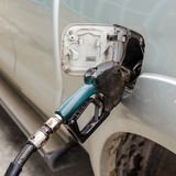 肮脏的气泵喷管 免版税库存图片