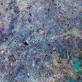 肮脏的油漆混乱地板背景 库存照片