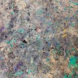 肮脏的油漆混乱地板背景 库存图片