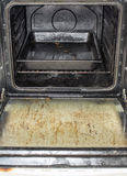肮脏的烤箱 库存图片