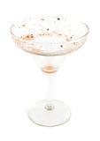 肮脏的玛格丽塔酒玻璃 免版税库存图片