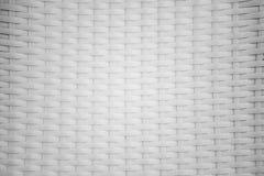 肮脏的白色藤条背景和纹理 免版税库存图片