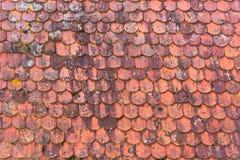 肮脏的红色屋顶样式背景纹理 库存图片