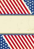 肮脏的美国冷却旗子 库存照片