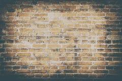 肮脏的老墙壁砖纹理墙纸背景  免版税库存图片