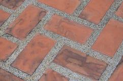肮脏的老橙色砖 免版税库存照片