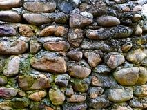 肮脏的老石墙背景 库存照片
