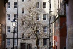 肮脏的老镇大厦在爱丁堡 免版税图库摄影
