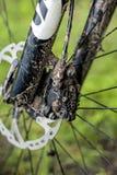 肮脏的自行车 库存照片
