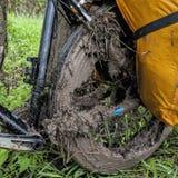 肮脏的自行车 图库摄影