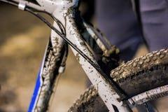 肮脏的自行车 库存图片