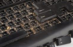 黑肮脏的键盘 免版税库存照片