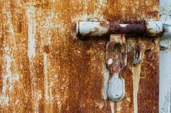肮脏的门锁 免版税库存图片