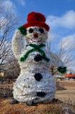肮脏的雪人 免版税库存图片