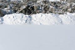 肮脏的雪纹理解冻的雪 免版税库存照片