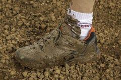 肮脏的鞋子 库存照片