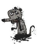 肮脏的鼠 可笑的例证 库存照片