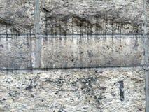 肮脏的水泥墙壁 图库摄影
