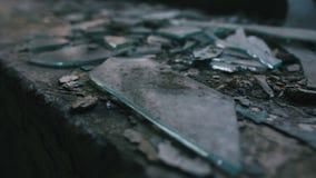 肮脏的玻璃碎片 免版税库存照片