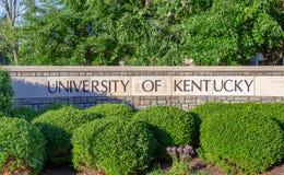 肯塔基大学入口标志 库存照片