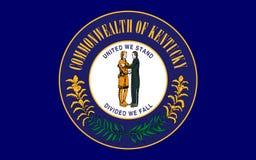 肯塔基,美国的旗子 免版税库存图片