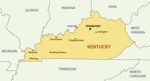 肯塔基-传染媒介地图的联邦 向量例证