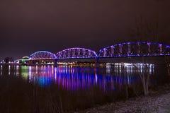肯塔基&印第安纳桥梁 免版税库存图片