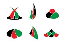 肯尼亚主题的商标传染媒介 免版税库存图片