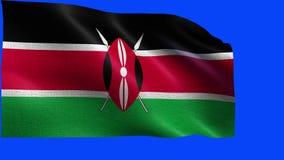 肯尼亚共和国,肯尼亚-无缝的圈的旗子 库存例证