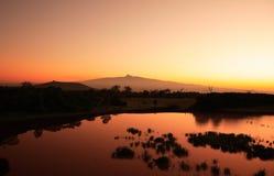 肯尼亚挂接日出 库存照片