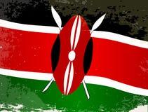 肯尼亚旗子难看的东西 图库摄影