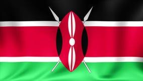 肯尼亚旗子 背景无缝的使成环的动画 4K高定义录影 股票录像